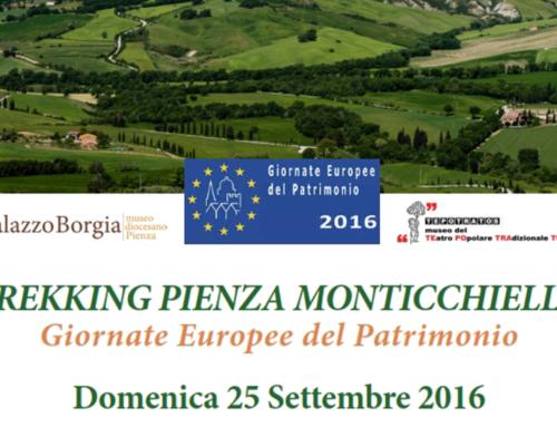 TREKKING PIENZA-MONTICCHIELLO  Giornate Europee del Patrimonio  25 Settembre 2016
